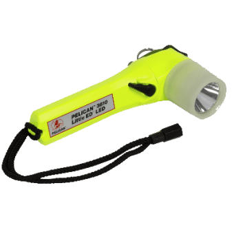 The 3610 Pelican intrinsically safe LED torches fitted with a photoluminescent shroud.